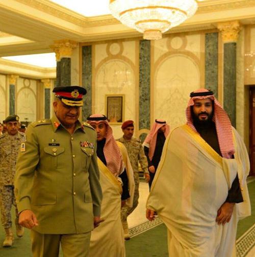 Saudi Crown Prince Receives Commander of Pakistani Army