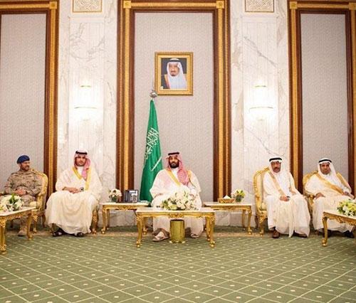 Saudi Crown Prince Receives Senior Commanders on Eid Al-Fitr