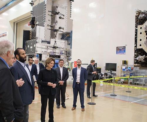Saudi Crown Prince Tours Lockheed Martin's Silicon Valley Site