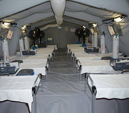 Saudi Ministry of Defense Builds Two Mobile Hospitals for COVID-19 Patients