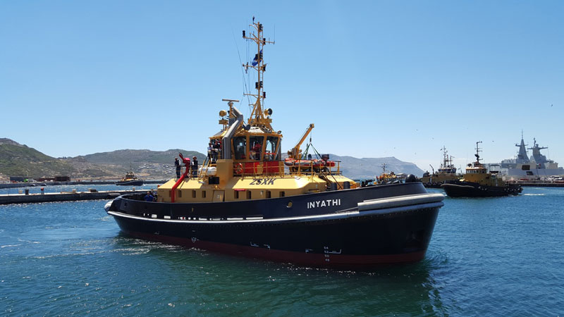 South African Navy Receives New Damen ATD Tug 2909