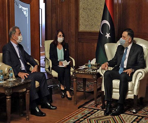 Turkish Defense Minister, Chief of General Staff Visit Libya