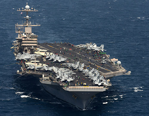 U.S. Navy Deploys Two Aircraft Carriers in Mediterranean Sea