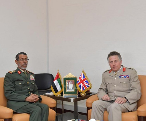 UAE Armed Forces Chief Receives British Counterpart