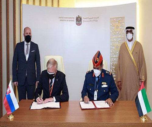 UAE Ministry of Defence, Slovakia Sign Military Cooperation Agreement