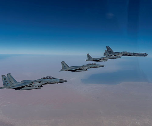 US B-52 Bomber, Saudi F-15SAs Showcase Airpower in Middle East