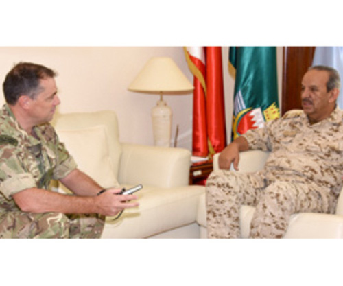 Bahrain Chief Commander Receives UK Military Attaché