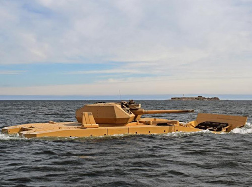 Patria AMV28A Completes Swimming Tests