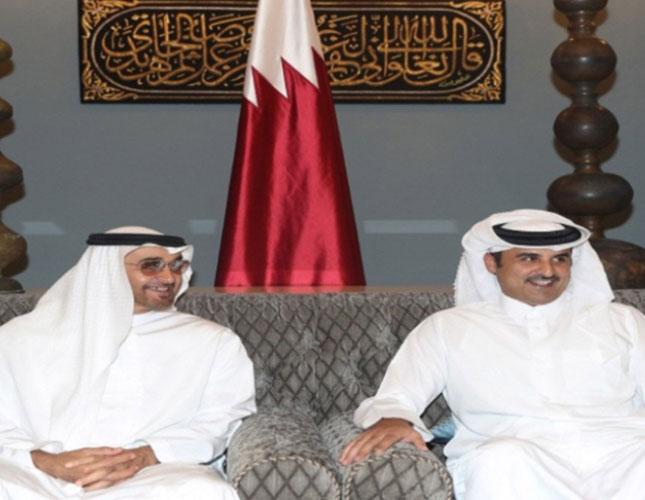 Qatar's Emir Receives Abu Dhabi Crown Prince