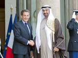 UAE Crown Prince Meets Sarkozy