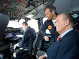 King Juan Carlos I 1st Head of State to Fly in A400M