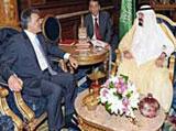 Saudi King Meets with Turkish President