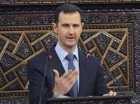 """Assad: """"We are Facing a Real War Waged from the Outside"""""""
