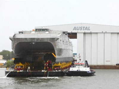 Austal Launches 2nd Joint High Speed Vessel (JHSV2)
