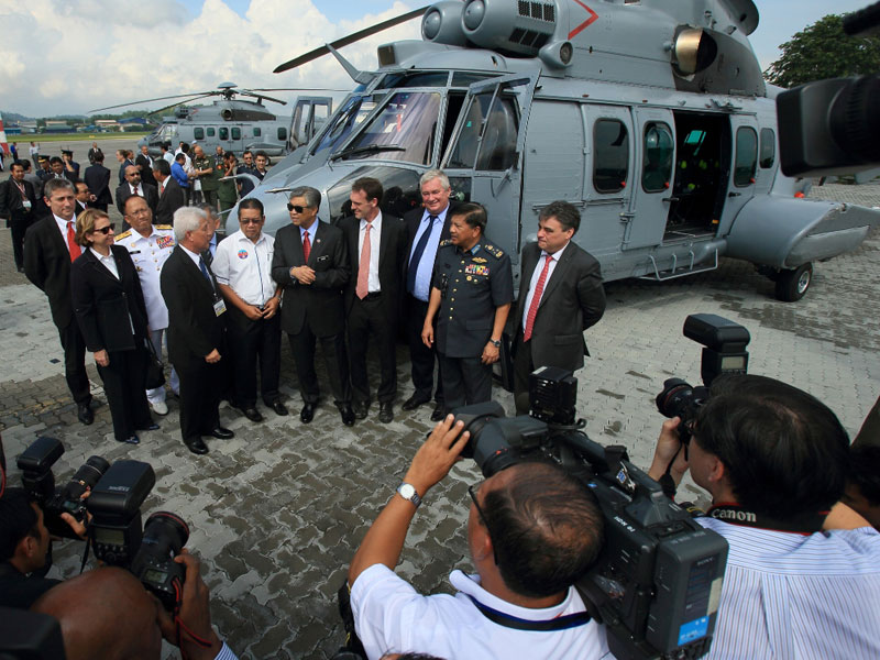 Eurocopter Delivers 1st 2 EC725 to Malaysian Air Force