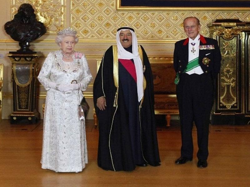 Queen Elizabeth II Welcomes the Emir of Kuwait