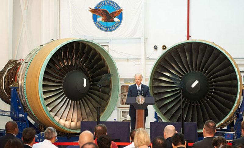 Biden Visits Pratt & Whitney Facility in Singapore