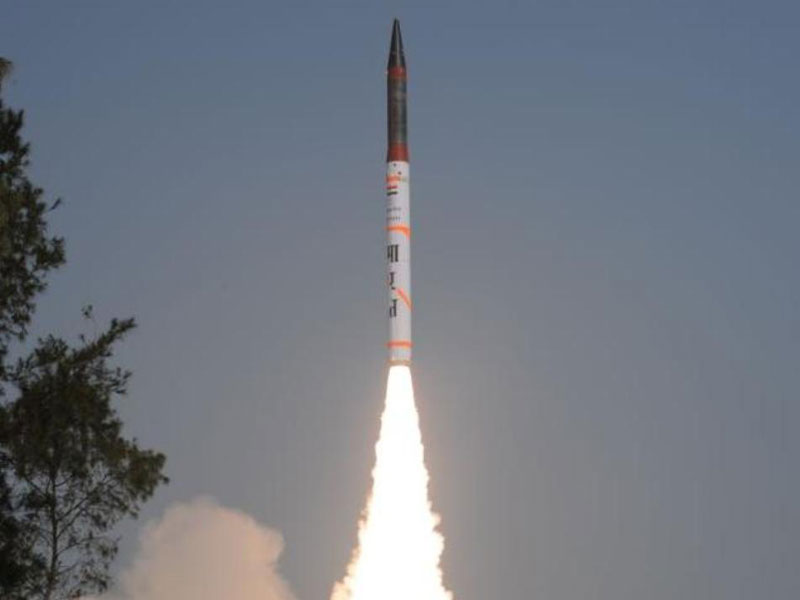 India Tests New Agni-IV Nuclear-Capable Ballistic Missile