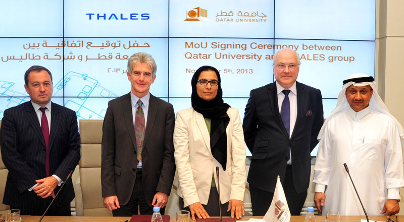 Qatar University, Thales Sign MoU on Information Systems