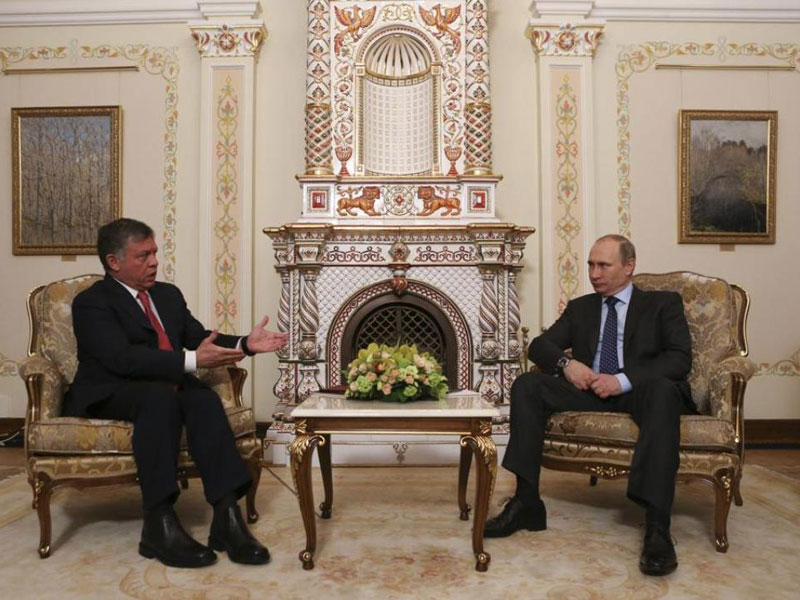 King of Jordan Arrives in Russia