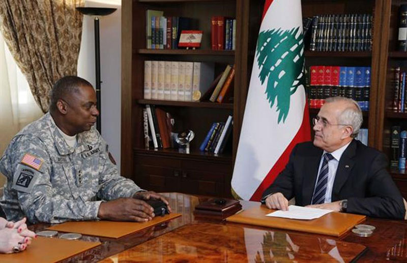 Lebanese Army Chief Receives US Central Command Chief