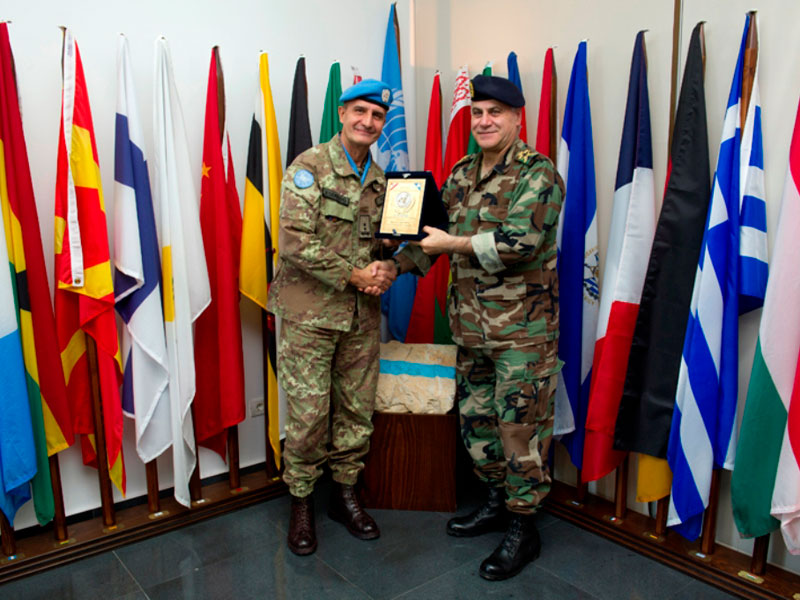 Lebanese Army Commander Receives UNIFIL Commander