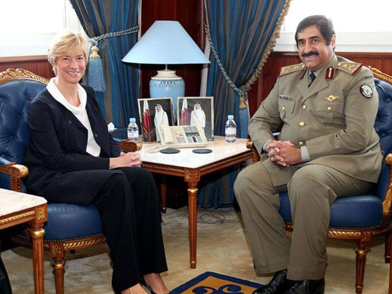 Qatar Defense Minister Meets Italian, French Defense Chiefs