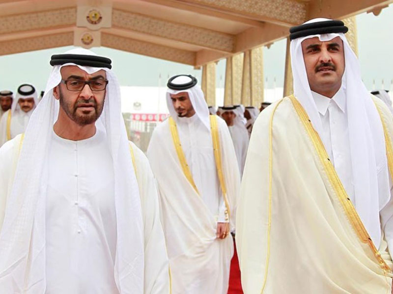 Qatar Emir Meets Abu Dhabi Crown Prince, GCC Chief