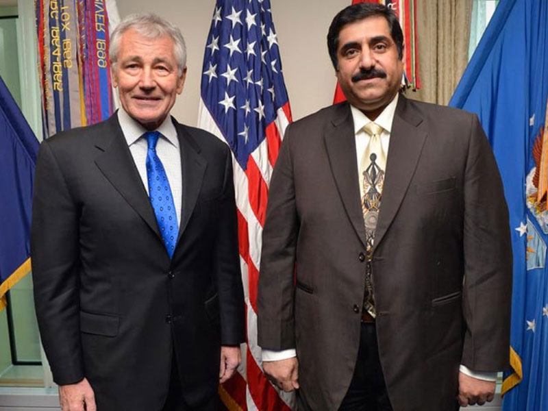 Qatar Minister of State for Defence Affairs Meets Chuck Hagel