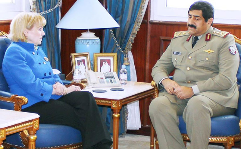 Qatar Minister of State for Defense Affairs Meets US Official