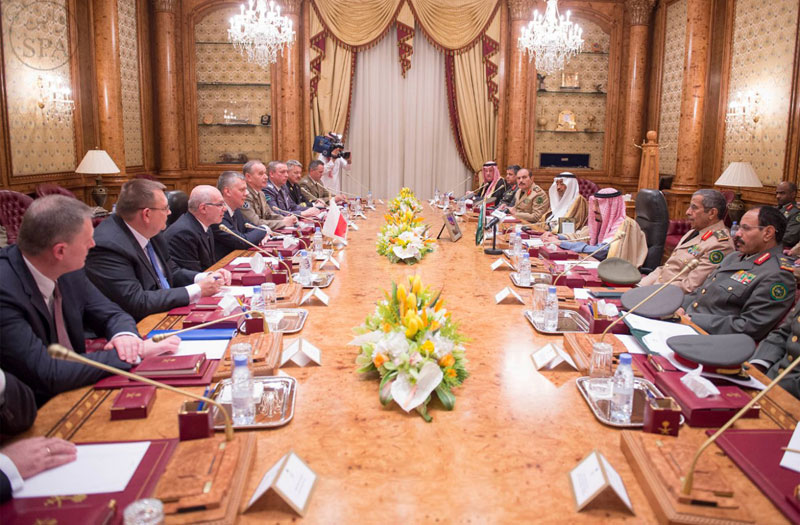 Saudi Crown Prince Receives Poland's Minister of Defense