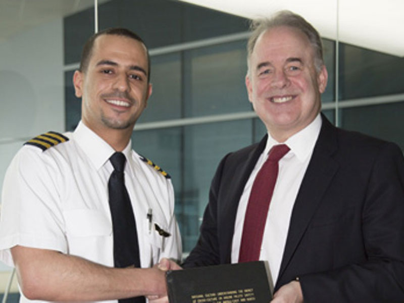 Emirati Etihad Pilot Youngest Holder of PhD in Aviation