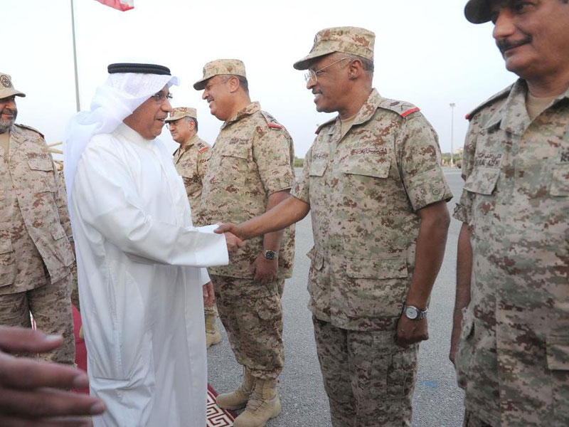 Kuwait's Defense Minister Visits Troops in the North