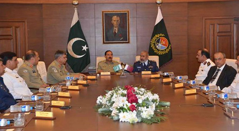 Pakistan, Qatar Military Leadership Discuss Mutual Cooperation