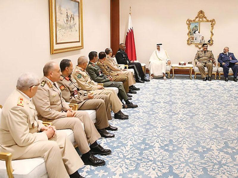 Qatar's Emir Meets International Coalition's Chiefs of Staff