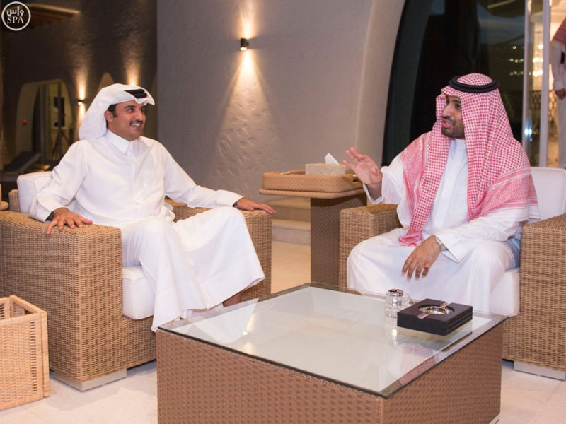 Saudi Defense Minister Meets Qatar's Emir, U.S. National Intelligence Director