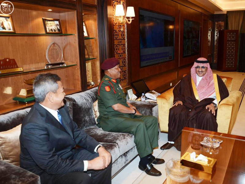 Saudi Interior Minister Meets Commander of Malaysian Army