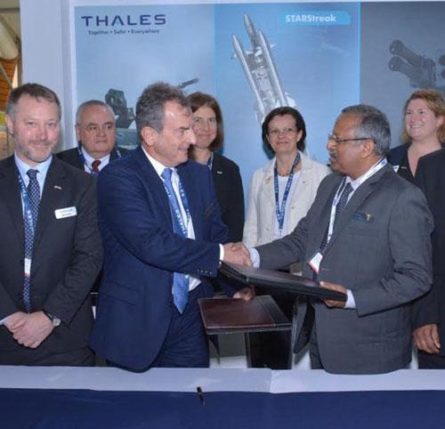 Thales, Bharat Dynamics Sign MoU for STARStreak Missile