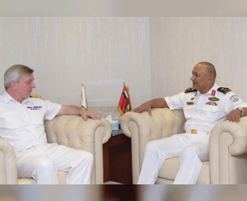UAE Naval Forces Chief Receives UK's Chief of Naval Staff