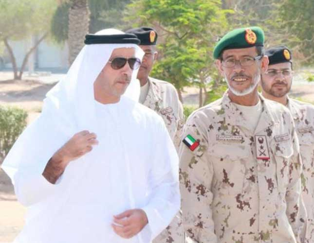 UAE Interior Minister Visits Land Forces Training Center