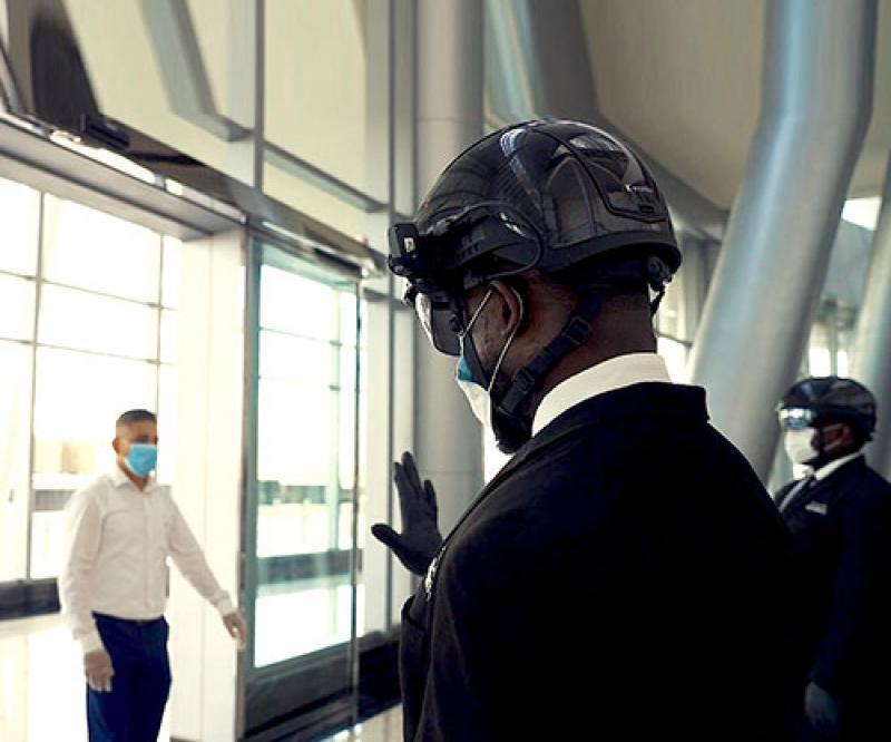 """""""Smart Helmet"""" to Detect COVID-19 Infections in UAE"""