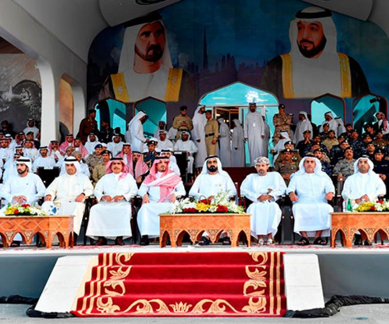 Dubai Ruler Attends Closing of 'Arab Gulf Security 2' Exercise