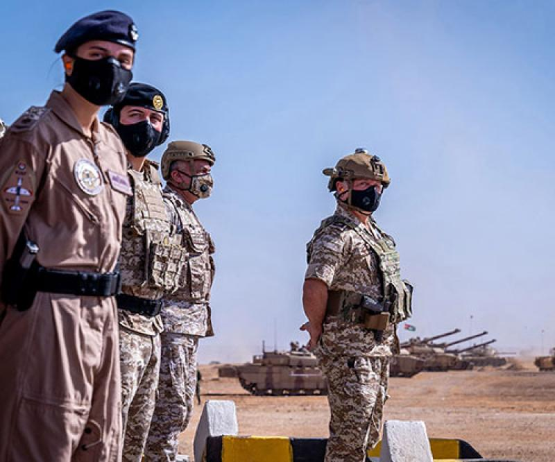 Jordanian King Attends Tactical Military Exercise