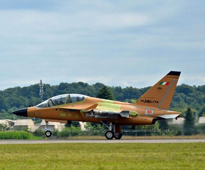 Leonardo's M-346 Fighter Attack Completes Maiden Flight With Grifo Radar