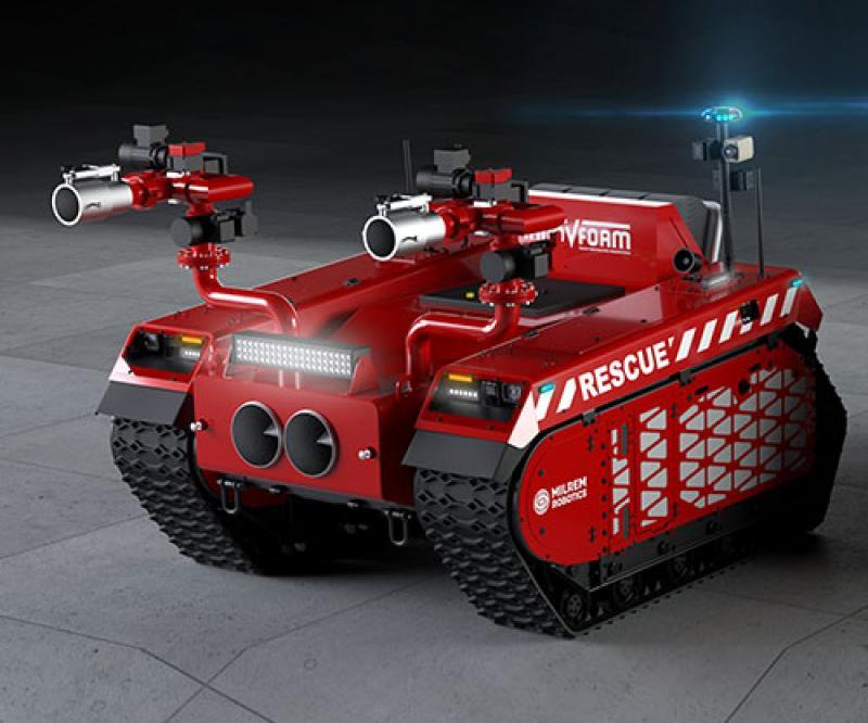 Milrem Robotics, InnoVfoam Develop Robotic Firefighters