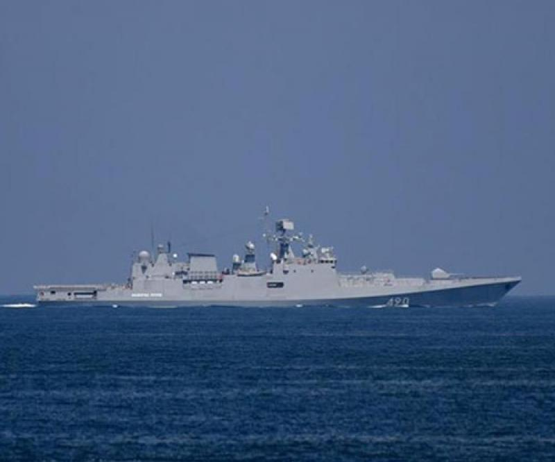 Russian Admiral Essen Frigate Conducts Exercises in Mediterranean Sea
