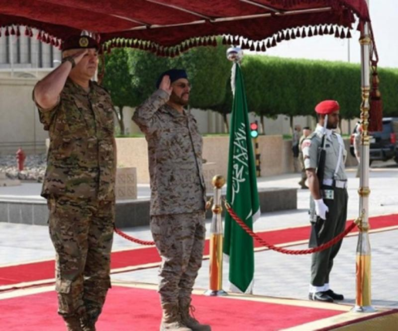 Saudi Chief-of-Staff Receives Lebanese Army Commander