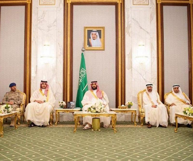 Saudi Crown Prince Receives Senior Commanders on Eid Al-Fitr
