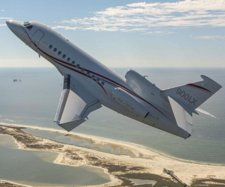 Dassault Aviation's Long Range Falcon 900LX at the International Marrakech Air Show