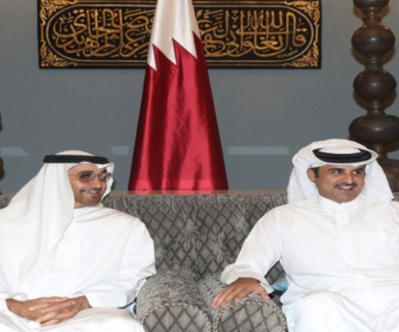Qatar's Emir Receives Abu Dhabi Crown Prince